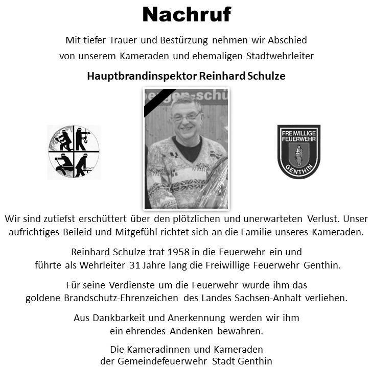 Nachruf R. Schulze
