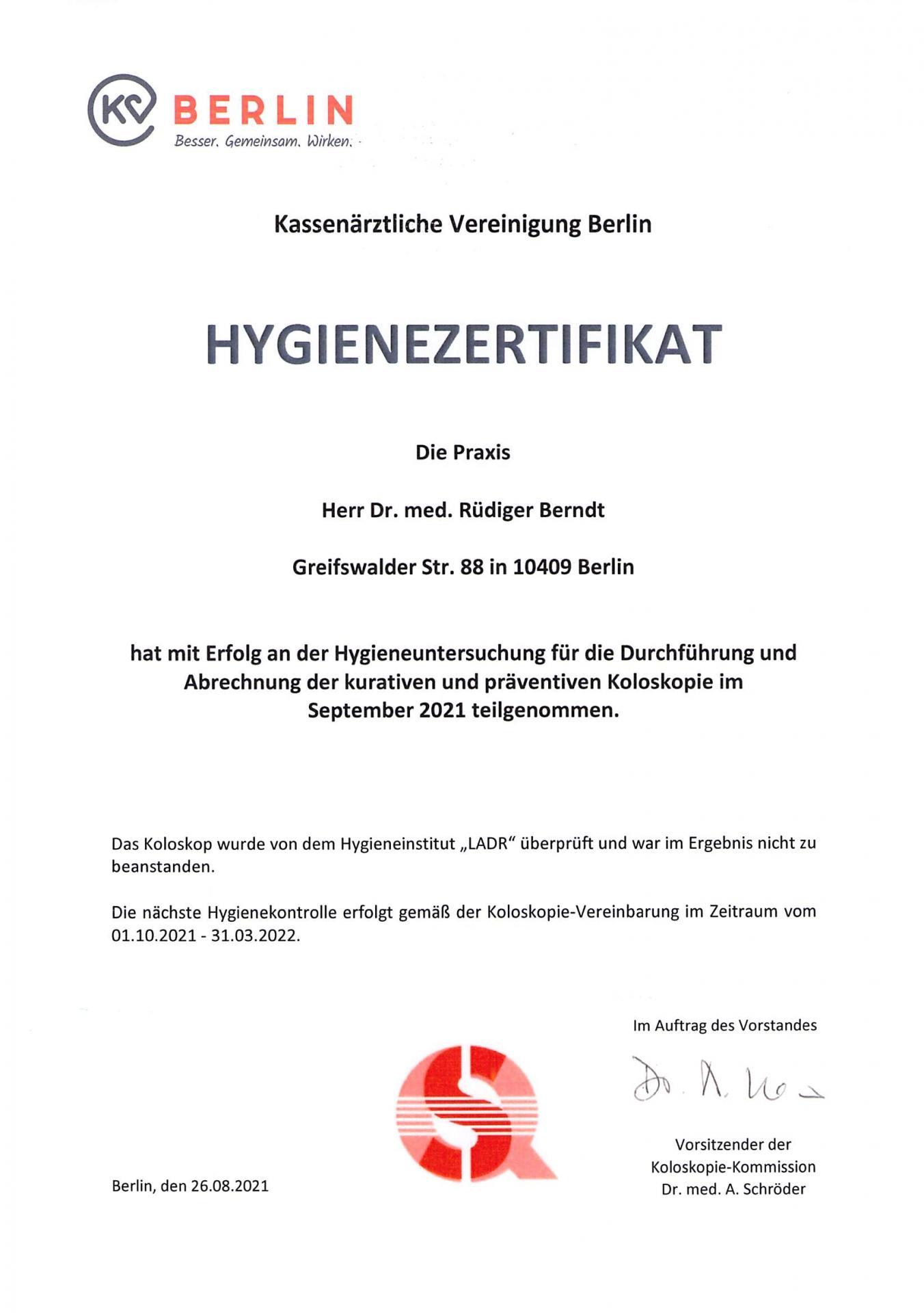 Hygiene 2021/22
