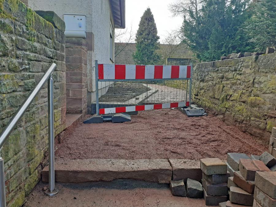 Bauarbeiten Bahnpfad Januar 2020