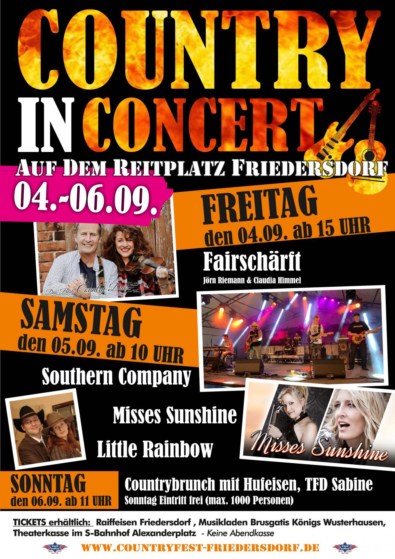 Plakat Country in Concert