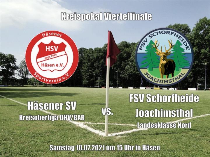 Kreispokal Viertelfinale 10.07.2021 15 Uhr
