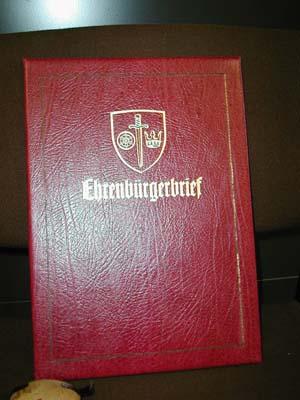 Ehrenbürgerbrief