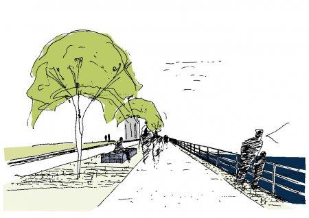 Entwurf Elbuferpromenade