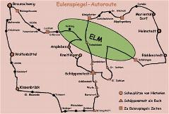 Eulenspiegel Autoroute Karte