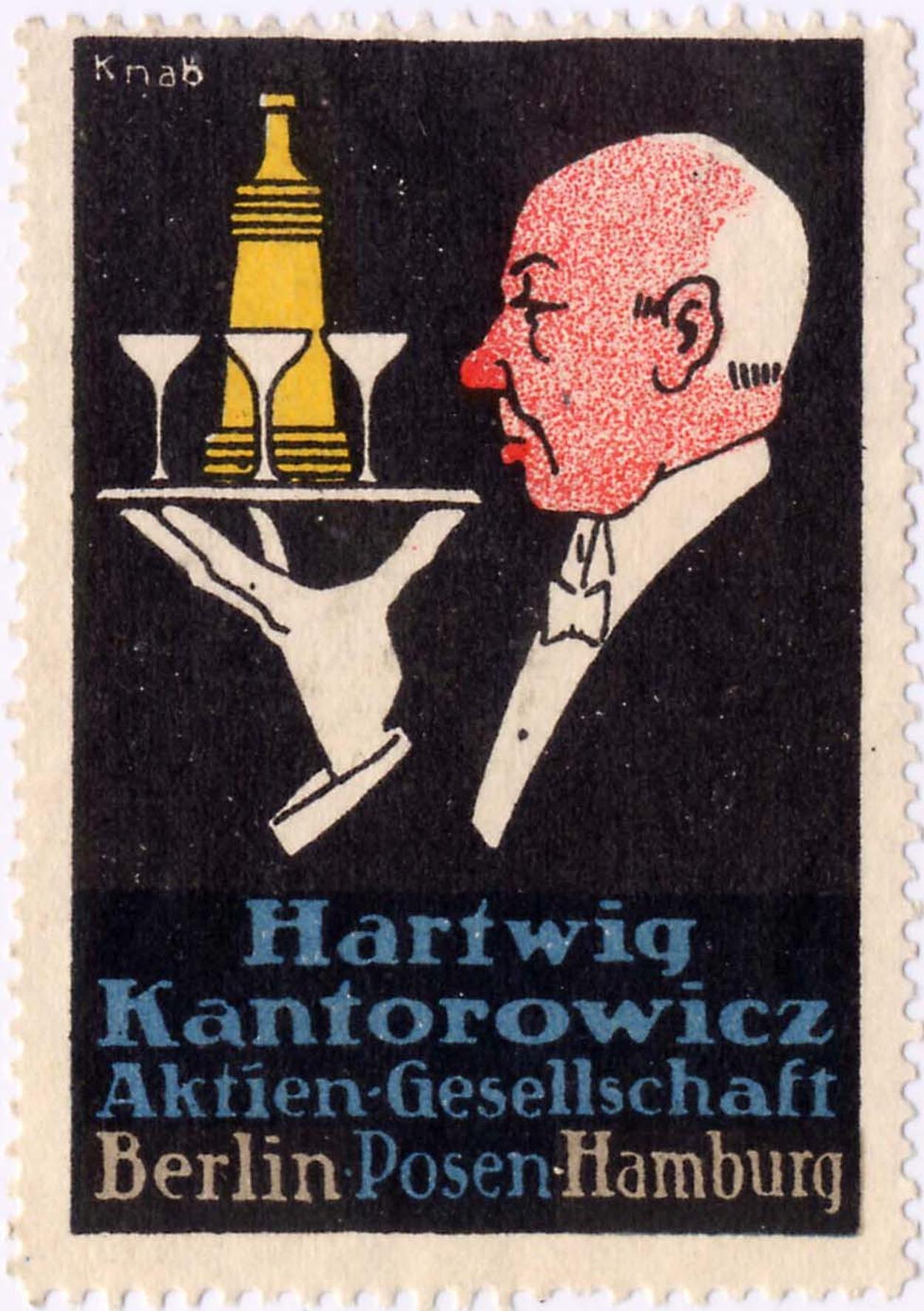 Kantorowicz Reklamemarke 2, © Stephan Becker, Brüssow