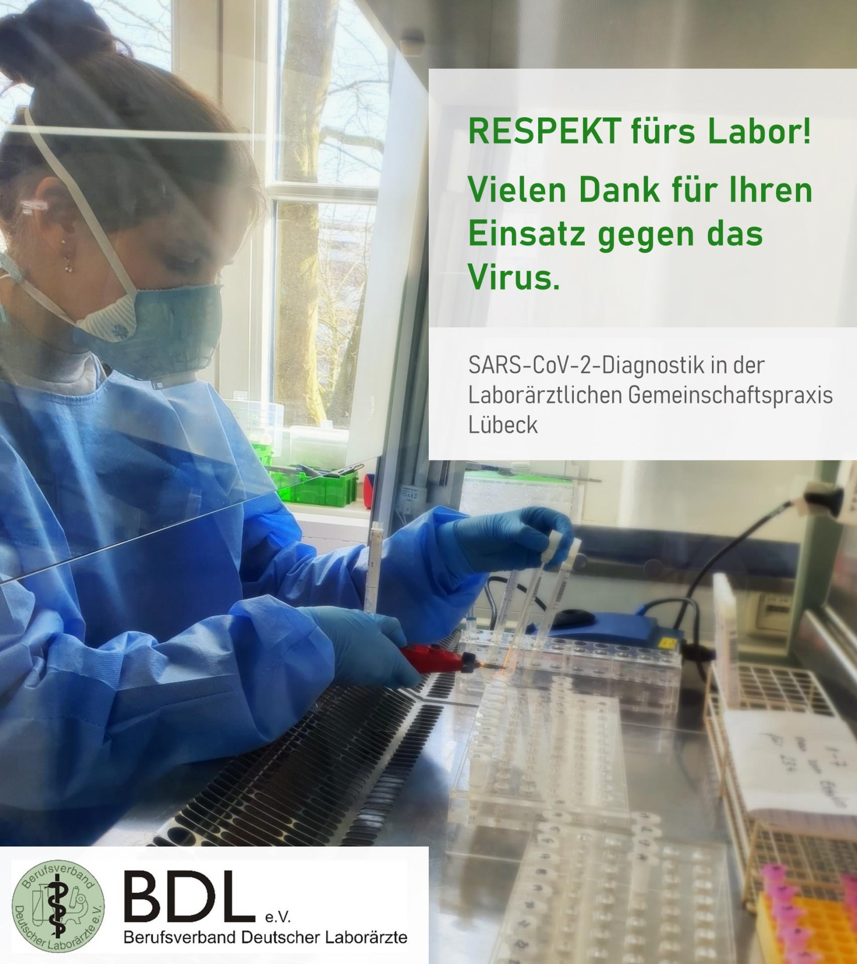 COVID-19 - Respekt fürs Labor