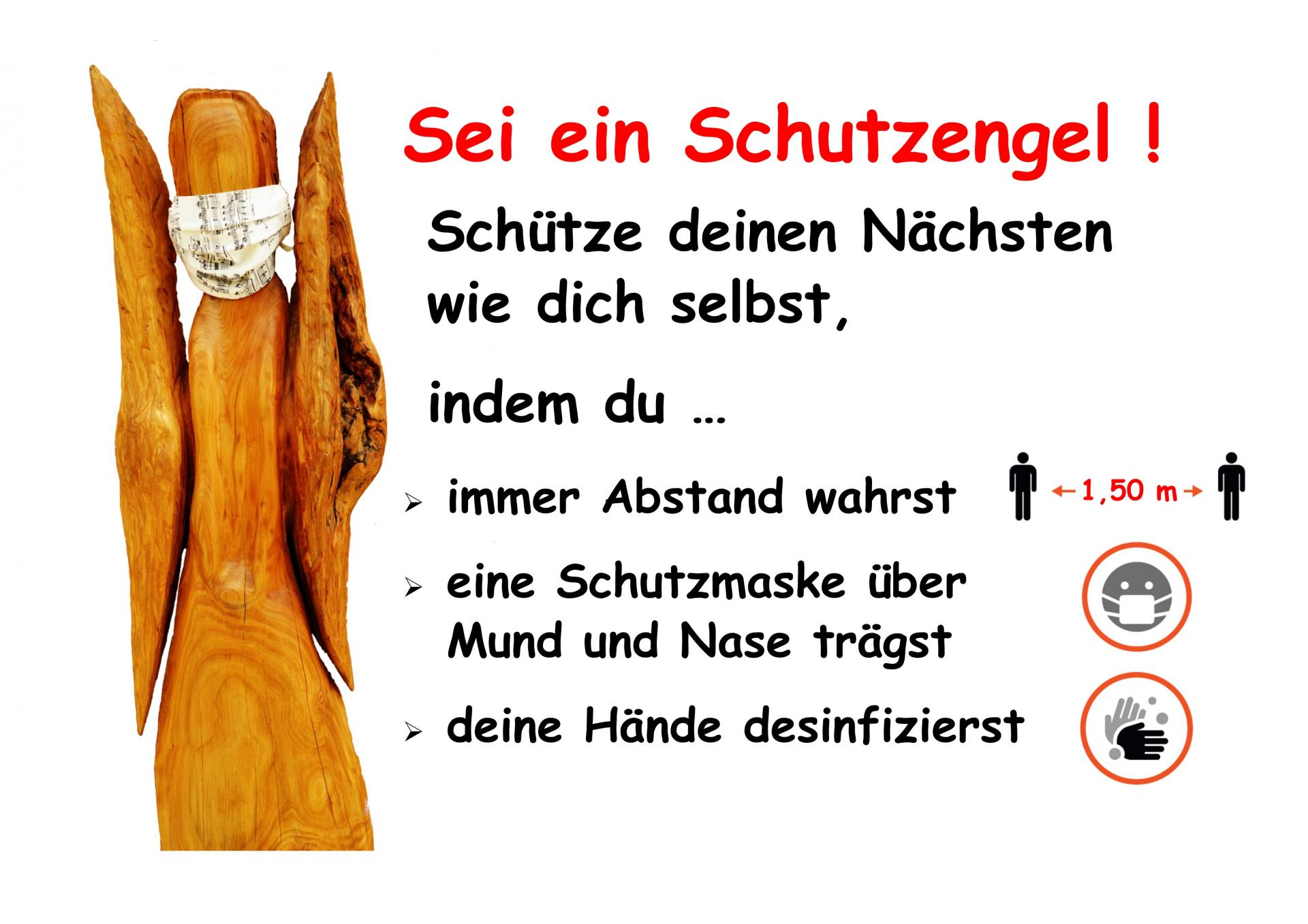 CoVid19-Hygiene Hinweis Schutzengel