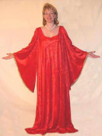 Mittelalterkleid Unterkleid rot