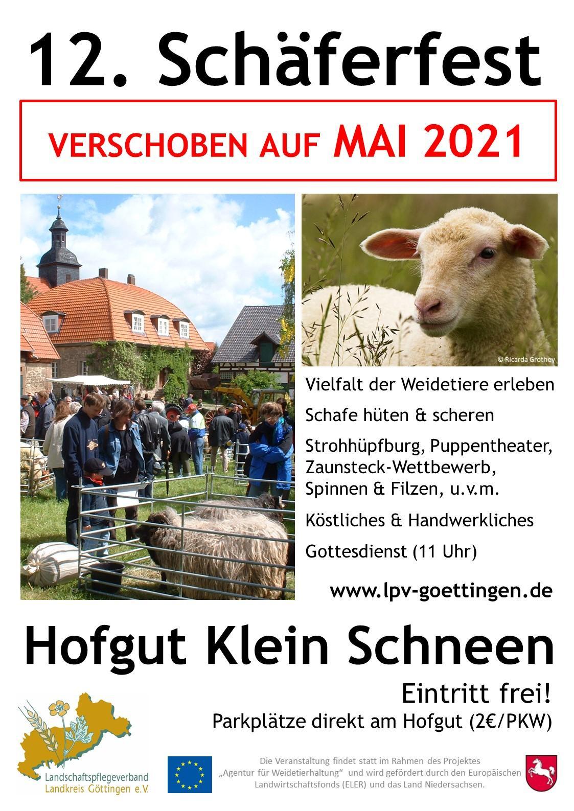 Plakat Schäferfest 2020 Absage