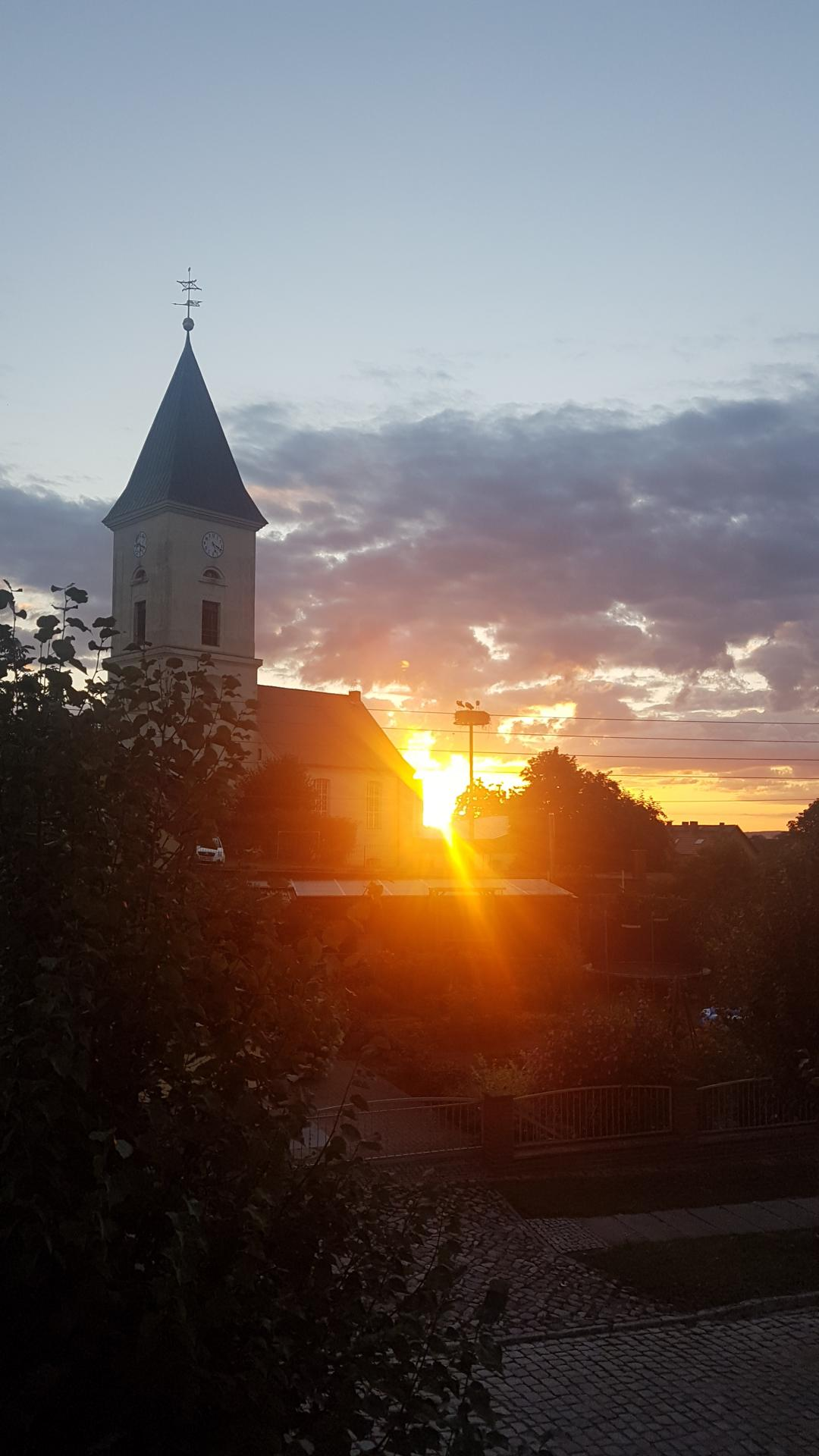 Blick aus dem Zimmer Sonnenaufgang