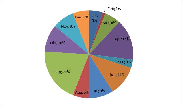 Einsätze pro Monat Kreis