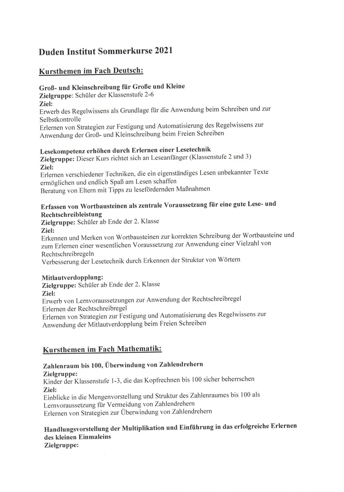 Lernförderung Angebote S. 1
