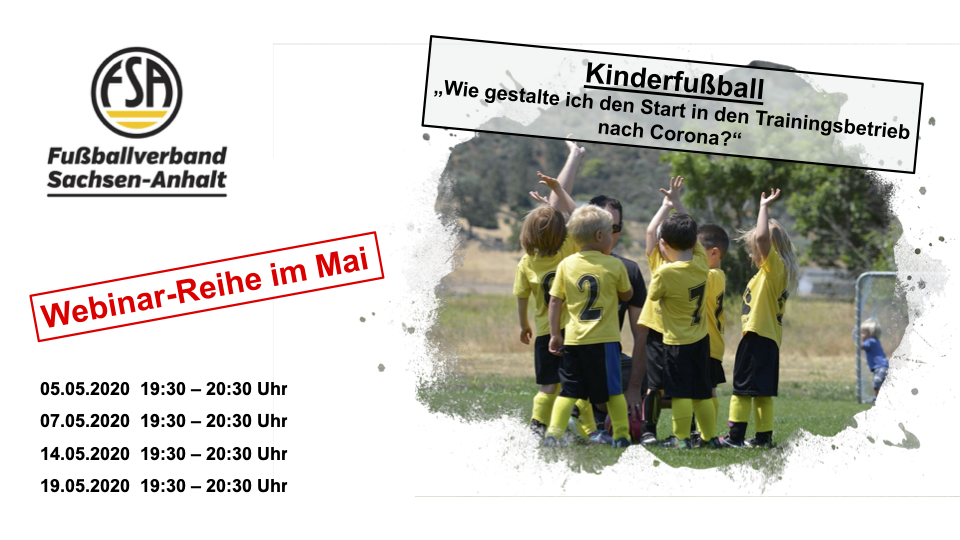 Termine Webinar-Reihe Kinderfußball