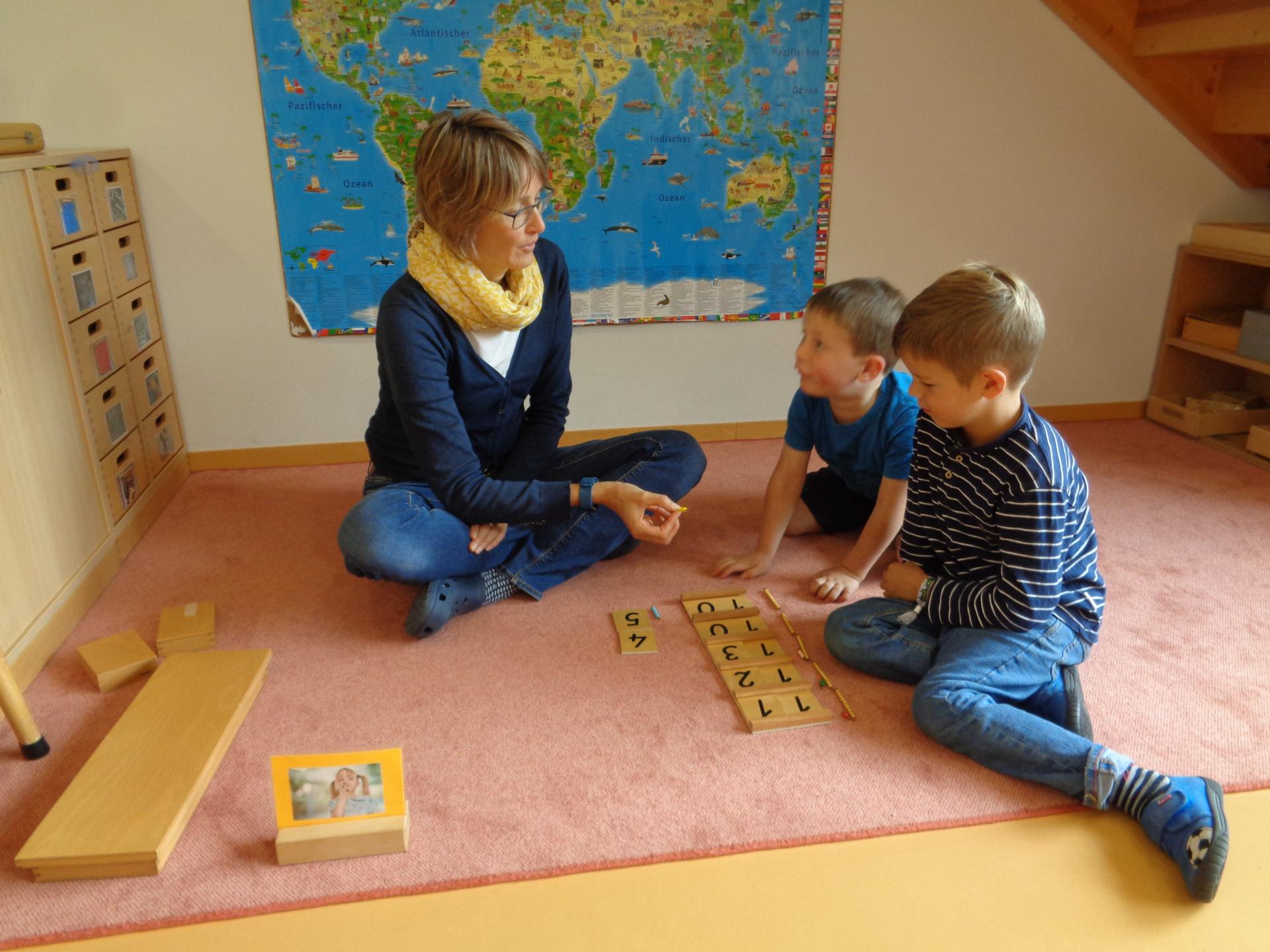 Montessori - Séguintaffeln