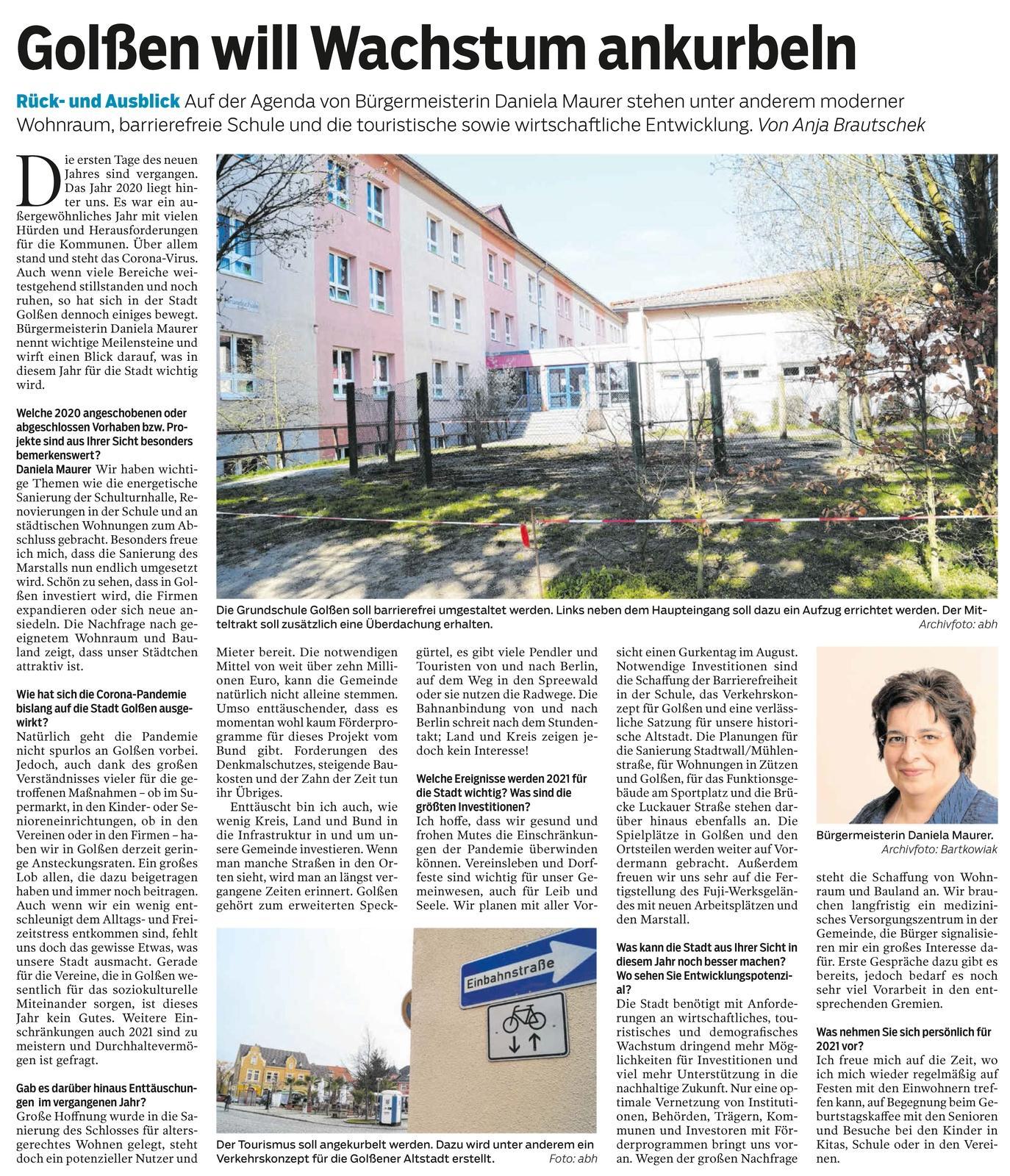 Lausitzer Rundschau 09.01.2021