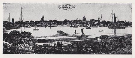 Relief der Elbe