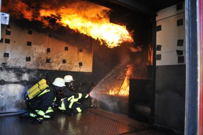 Feuerwehr Brandcontainer