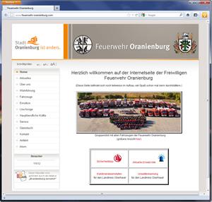 Screenshot Feuerwehr