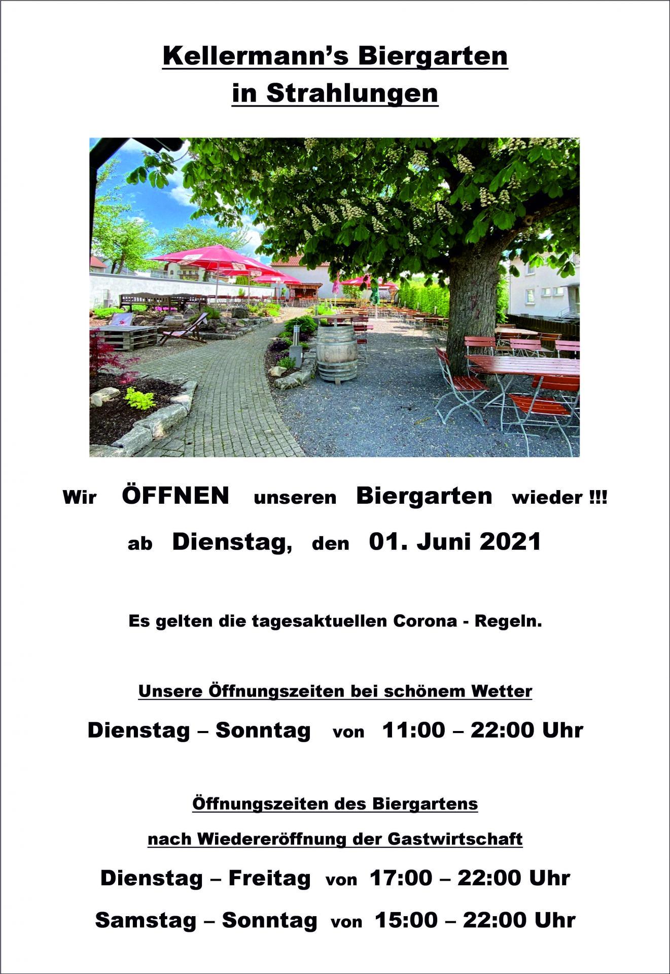 Öffnung Biergarten 01.06.2021