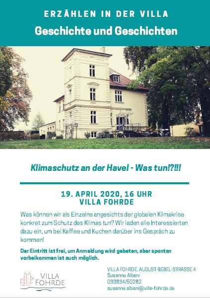 Erzählcafé Klimaschutz an der Havel -Was tun!?!!