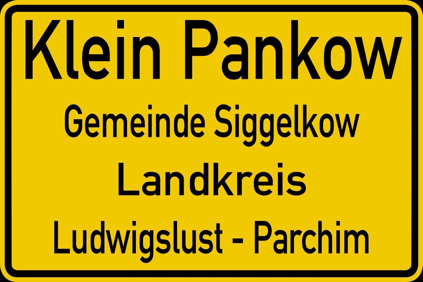 Ortsschild Klein Pankow