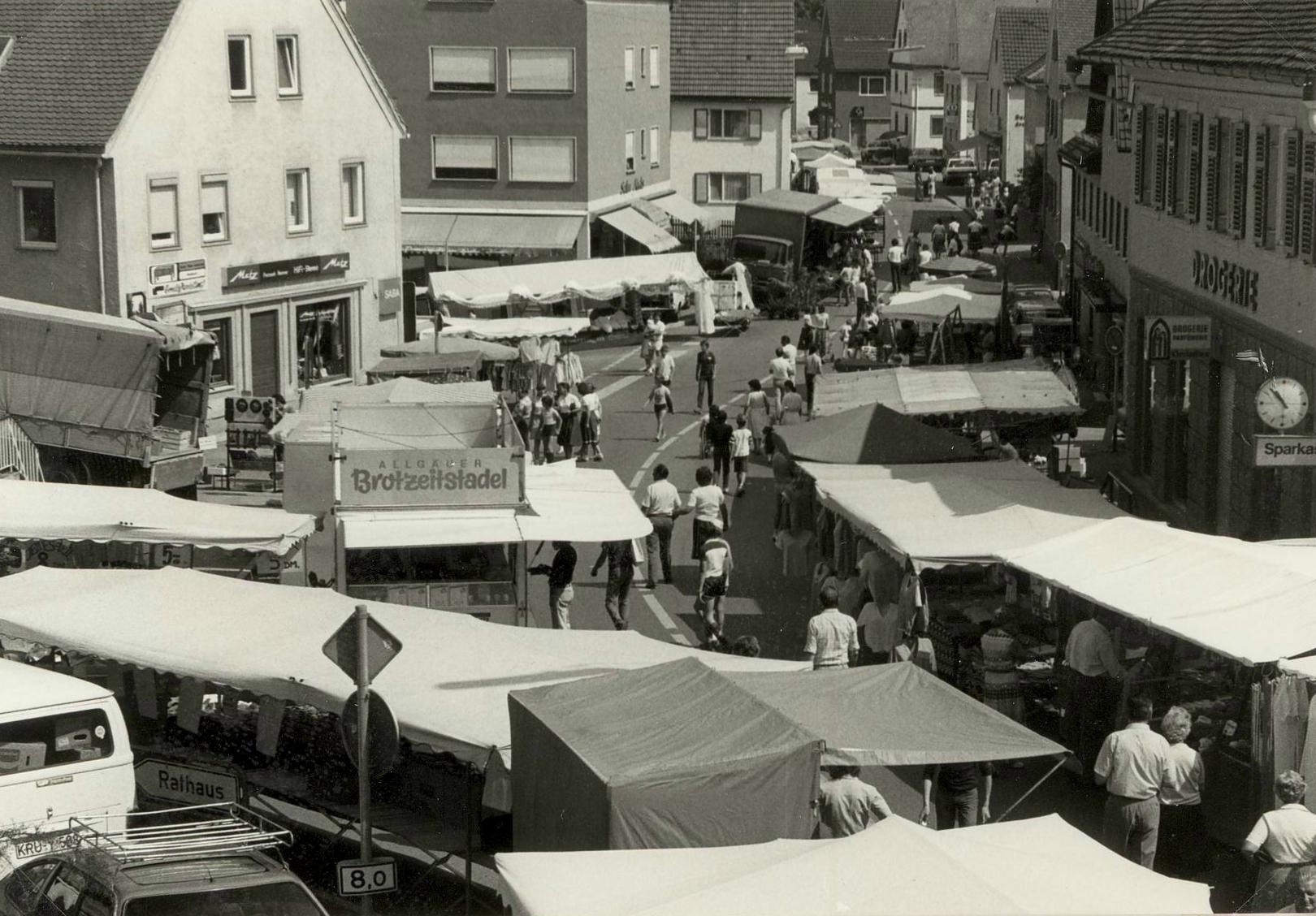 Zusmarshausen Frühjahrsmarkt im Juni 1983