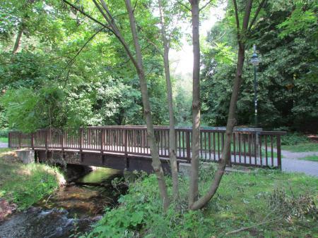 Blick von Fließbrücke
