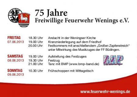 75 Jahre FW Wenings-Programm