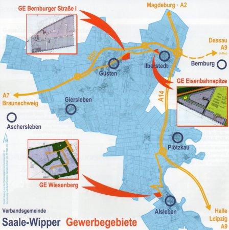 Gewerbegebiete der Verbandsgemeinde Saale-Wipper