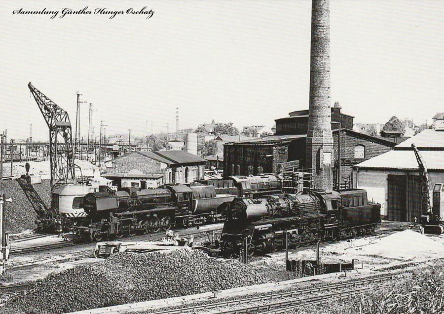 Güterzugdampflokomotiven 52 5287 und 58 3052