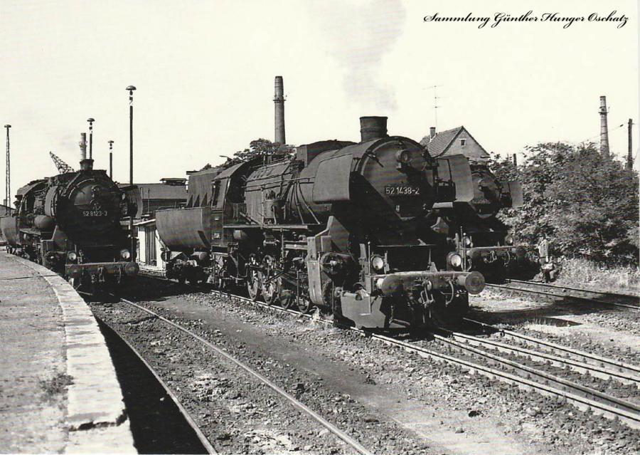 Güterzugdampflokomotiven 52 8123, 52 1483 und 52 2561