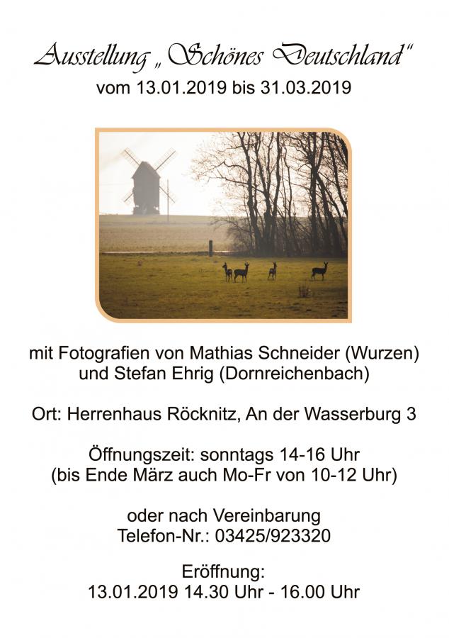 Plakat Ausstellung Schönes Deutschland