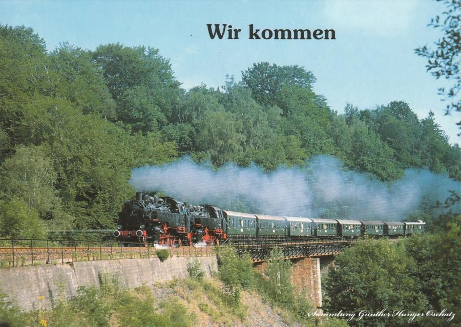 Wir kommen !  Güterzug-Dampflokomotiven 86 1333 und 86 1049  Mit Veltener Traditionszug bei Leubsdorf