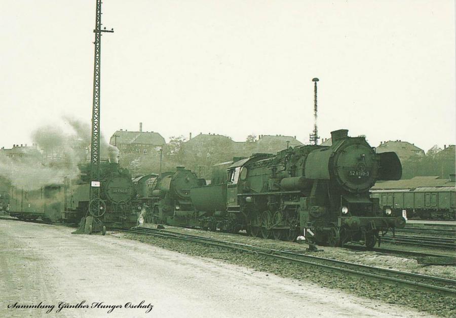Bahnbetriebswerk Zittau mit 99 1780, 52 3548 und 52 8199