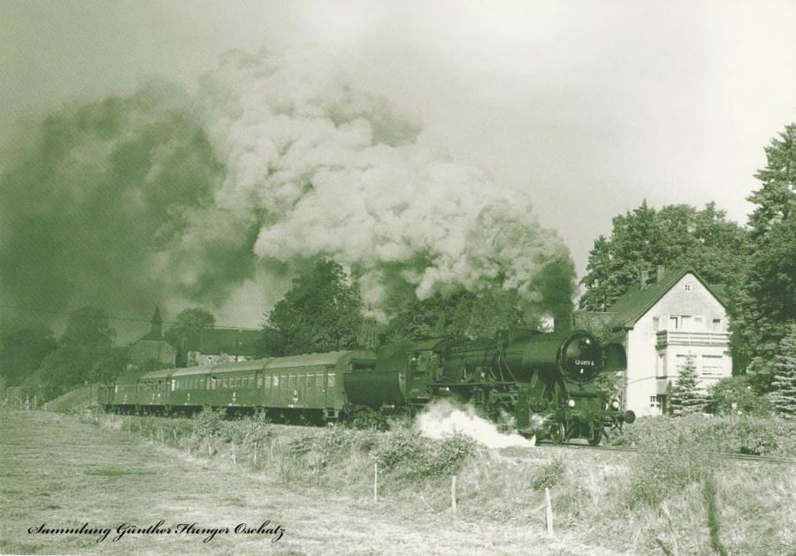 Güterzugdampflokomotive 52 4817 mit DMV-Sonderzug  bei Baltendorf