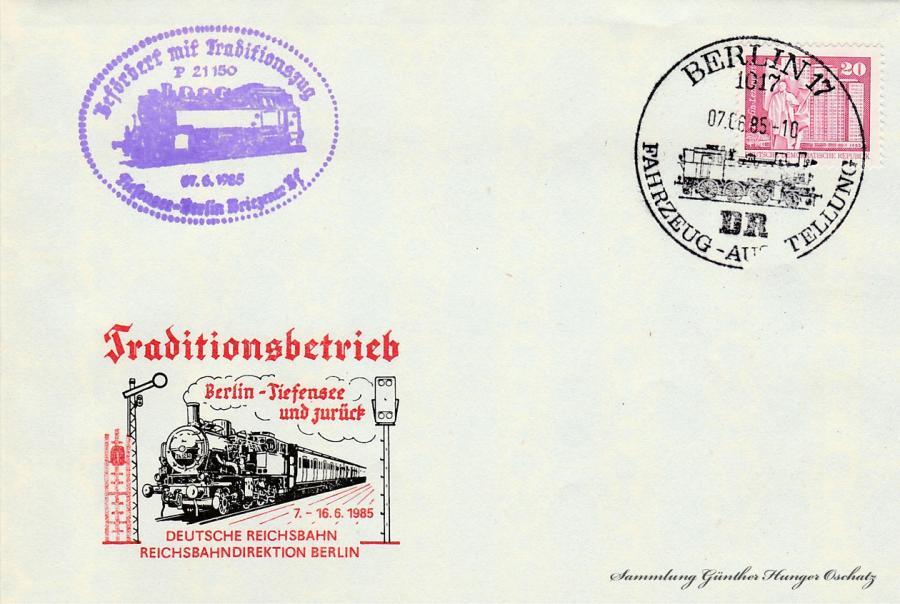 Traditionsbetrieb Berlin-Tiefensee und zurück 7.-16.6.1985