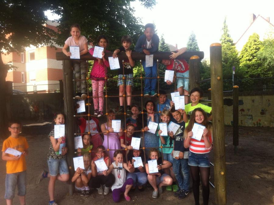 Teilnehmer des Känguru-Wettbewerbs am Standort Hagsche Poort