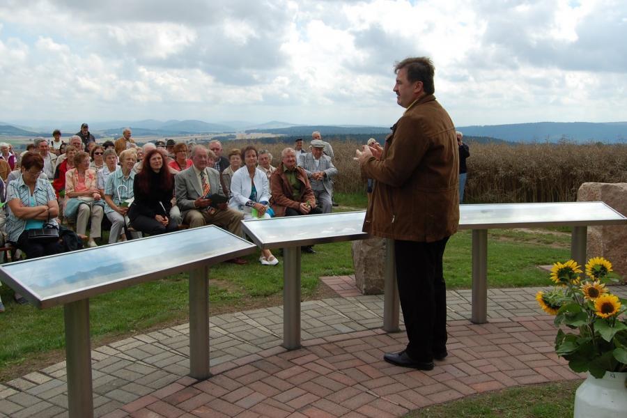 Einweihung der Panoramatafeln durch Bürgermeister Gensler