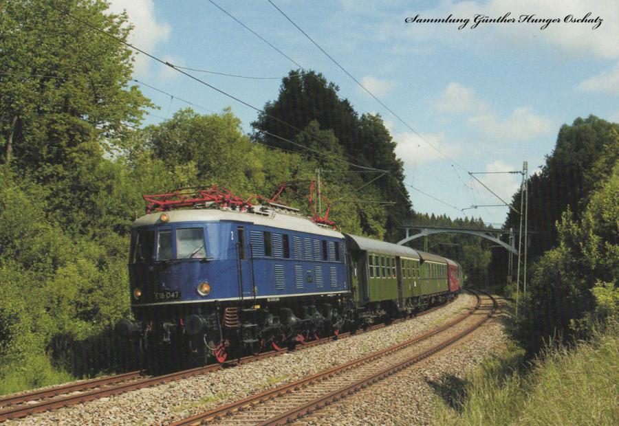 E 18 047 (DV Museum)  mit Sonderzug DPE 337 bei Mühltal