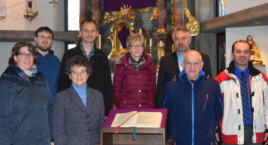 Lektoren der Pfarrei Mariä Sieben Schmerzen Weinberg