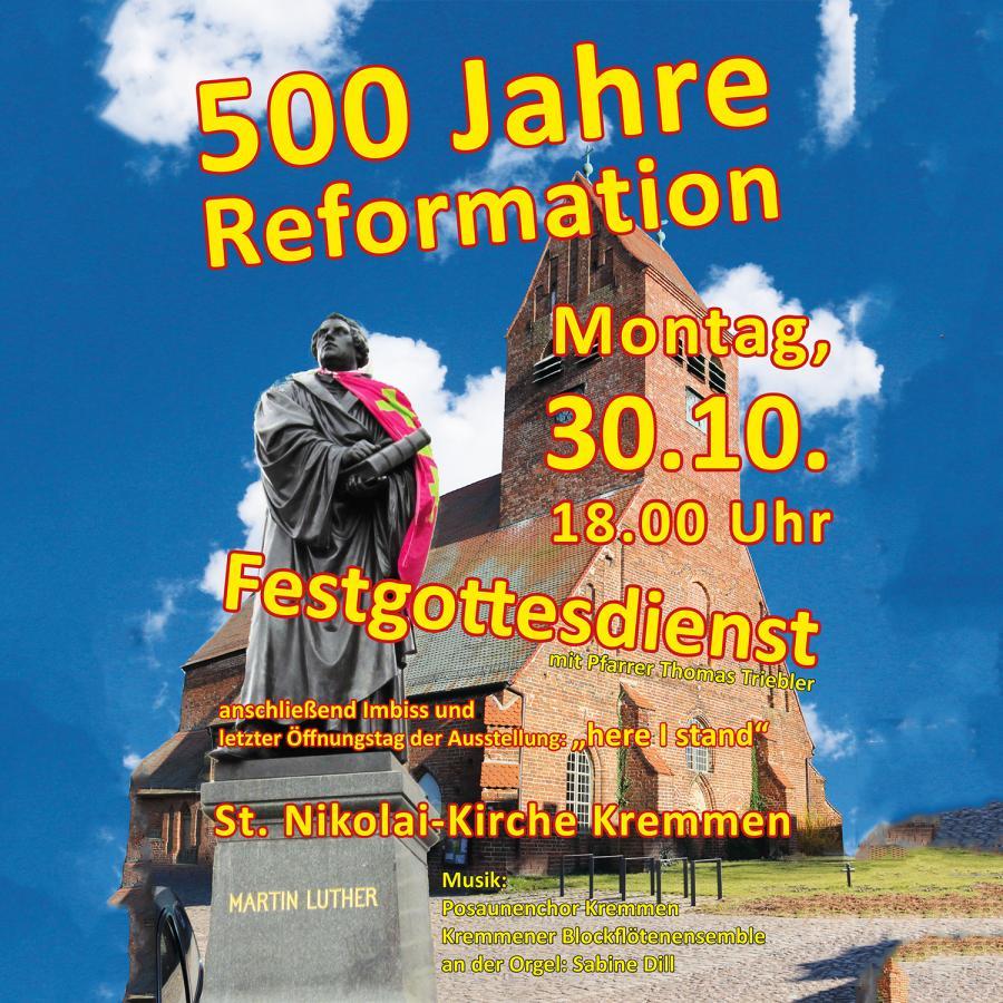 Festgottesdienst 500 Jahre Reformation in Kremmen