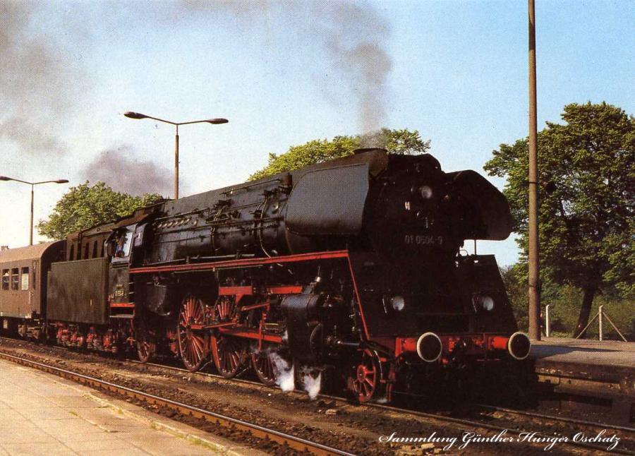 Dampflokomotive im Ostseebezirk