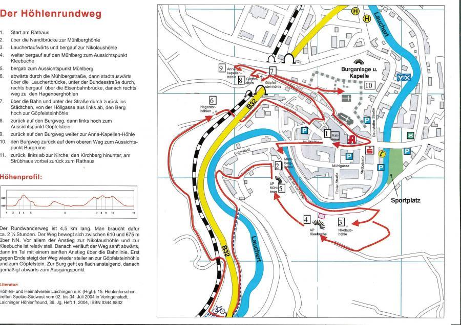 Flyer Höhlenrundweg in Veringenstadt