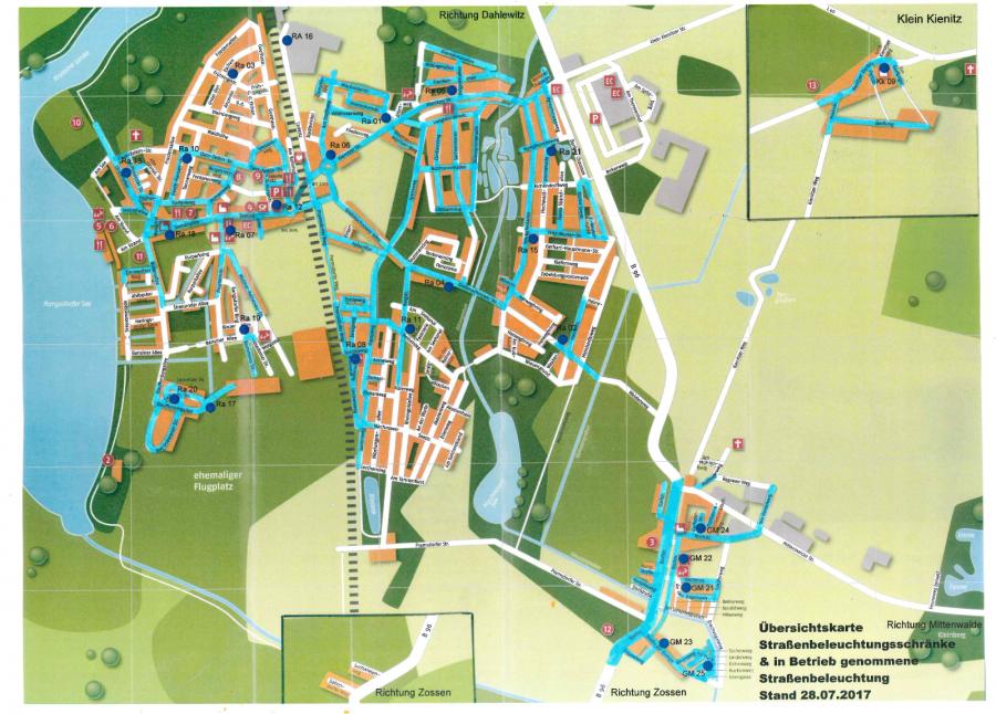 © Gemeinde Rangsdorf - Karte Stand 28.07.2017