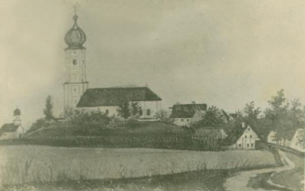 Pfarrkirche alte Zeichnung