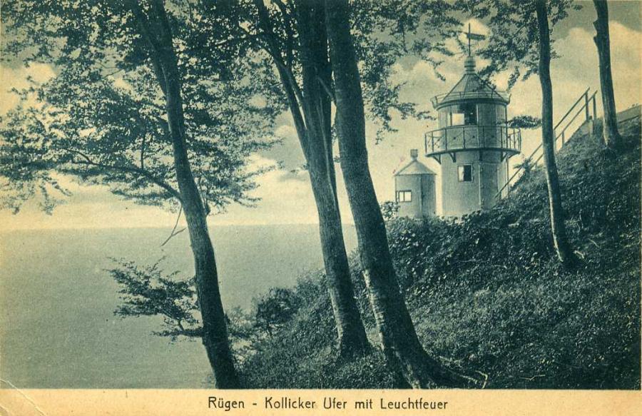 Rügen-Kollicker Ufer mit Leuchtfeuer 1923