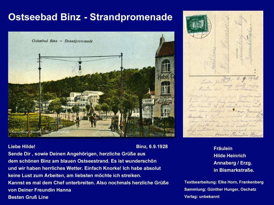 Ostseebad Binz  Strandpromenade