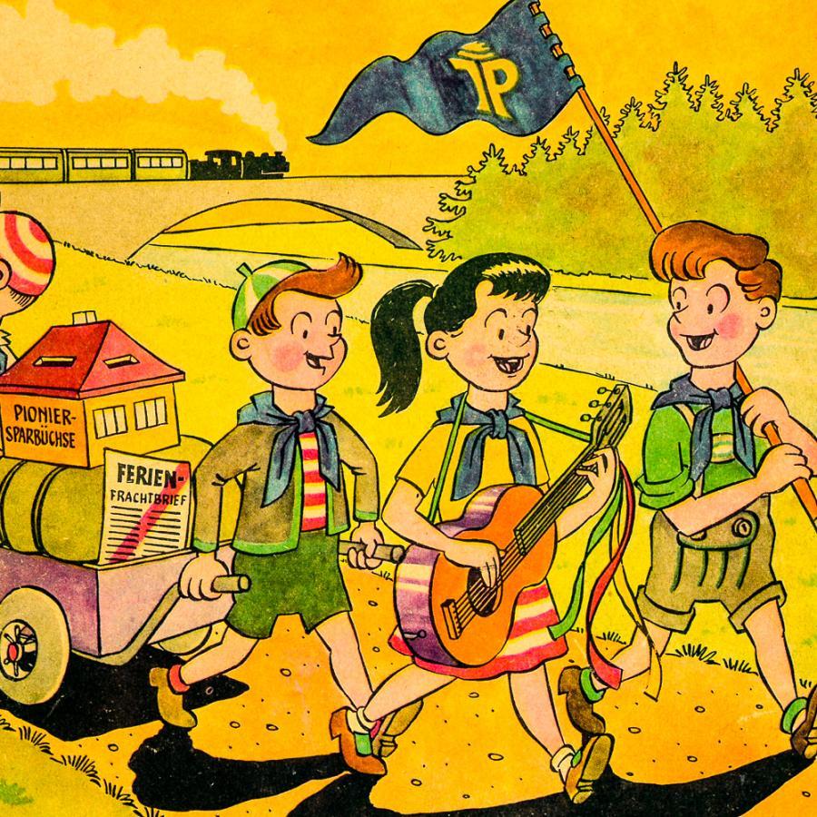 Broschüre mit dem Pionierexpress in die Sommerferien