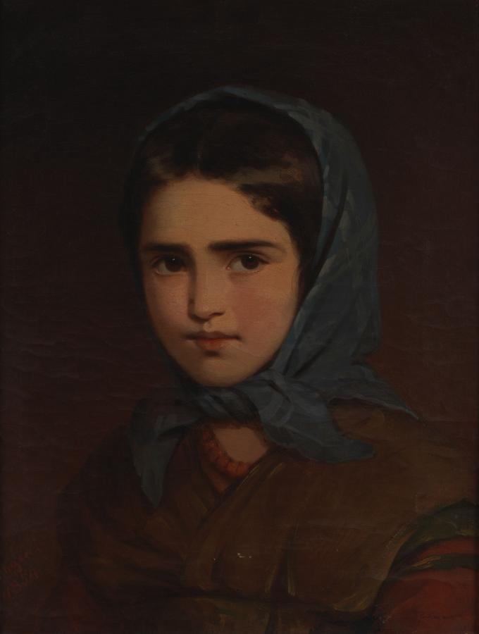 Julie Hagen Schwarz, Porträt eines Mädchen, 1854 ©Andreas Brücklmair