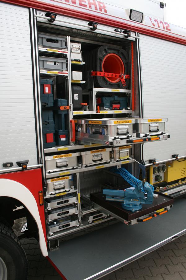 Rüstwagen Geräteraum 4